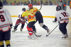 Children playing hockey Royalty Free Stock Photos