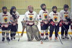 Children playing hockey Royalty Free Stock Photos