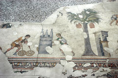 Children playing hoop, mosaic, Istanbul Stock Photography