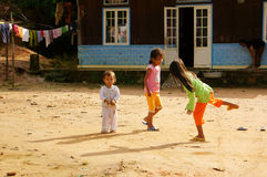 Children playing hopscotch Royalty Free Stock Images
