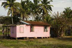 Children playing at house corn island nicaragua Stock Images