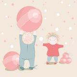 Children Playing Lollipop Balls Stock Photo