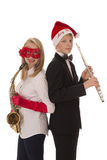 Children playing music for Christmas Royalty Free Stock Photography