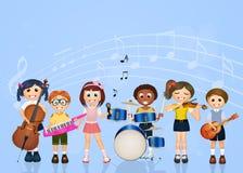 Children playing music Stock Photos