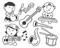 Children playing music Royalty Free Stock Photos
