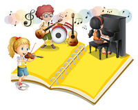 Children playing musical instrument Royalty Free Stock Images
