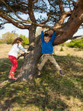 Children playing in nature Stock Photos