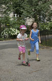 Children playing in a NYC park USA Royalty Free Stock Photography
