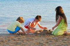 Free Children Playing On The Beach Stock Photos - 2632833