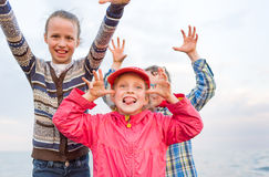 Children playing outside Royalty Free Stock Photo