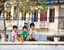 Children playing at the park in Kampot, Cambodia.  Stock Photography
