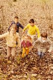 Children playing in the park. stock image