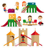 Children playing in the playground Royalty Free Stock Images