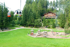 Children playing in the playground of Mount Pilatus Royalty Free Stock Photo