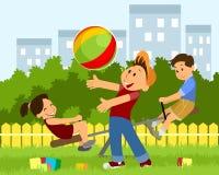 Children playing on playground Stock Photos