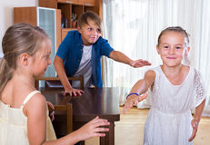 Children playing romp game Royalty Free Stock Photo