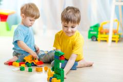 Children playing in the room Royalty Free Stock Images