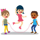 Children Playing Rope Stock Images