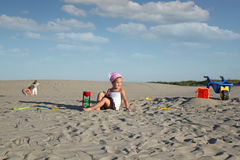 Children playing in the sand Stock Photo