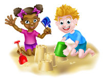 Children Playing in the Sand Royalty Free Stock Photography