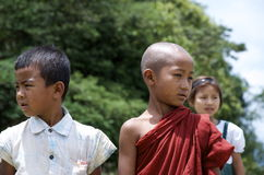 Children playing on the school field. Burma Royalty Free Stock Photography