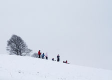 Children playing in the snow Royalty Free Stock Images