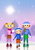 Children playing with snow Stock Photography