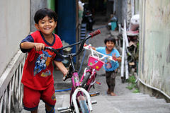 Children playing in South Yogyakarta Royalty Free Stock Images