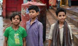Children playing on street in Varanasi, India.  Stock Photos