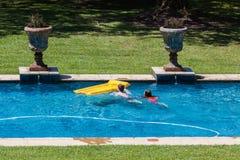 Children Playing Swimming Pool Royalty Free Stock Image