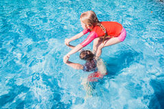 Children Playing Swimming Pool Stock Photos