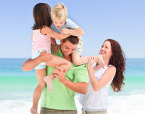 Children playing with their parents Royalty Free Stock Photo