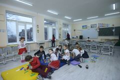 Free Children Playing Toys At The Classroom Of The Primary School, After-school Care Royalty Free Stock Photo - 174587375