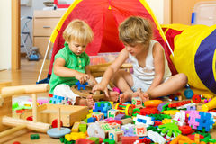Children playing with toys Stock Photography