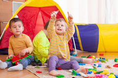 Children playing with  toys. Royalty Free Stock Image