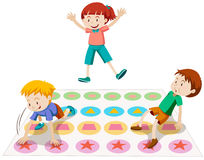 Children playing twister together Stock Images