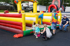 Children Playing at the Vinton Dogwood Festival Royalty Free Stock Photos