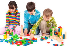Free Children Playing With Blocks Royalty Free Stock Photography - 8329747