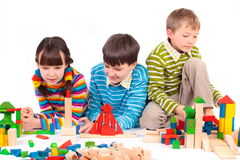 Free Children Playing With Blocks Stock Photo - 8329950