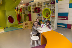 Children in the playroom royalty free stock images