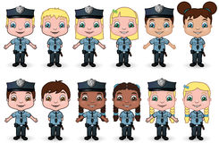Children Police Set 1 Stock Image
