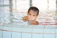 Children on pool Stock Photo