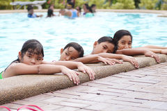 Children At The Pool Side Royalty Free Stock Image