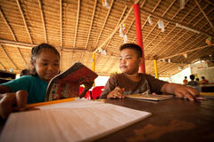Children from poor areas at school Royalty Free Stock Images