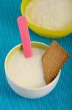 Children porridge. Closeup of a children porridge Stock Photo