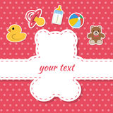 Children postcard. Invitation, card. Greeting cards. Place for text Royalty Free Stock Photos