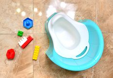 Children potty close up, top view. royalty free stock photography