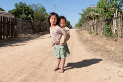 Children in poverty royalty free stock images