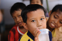 Children in Poverty. A street child from Jakarta, Indonesia Royalty Free Stock Photography