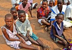 Children & Poverty, Zimbabwe. This photo depicts a group of children in the Gokwe North area of Zimbabwe. Given the current situation in the country they face a royalty free stock photography